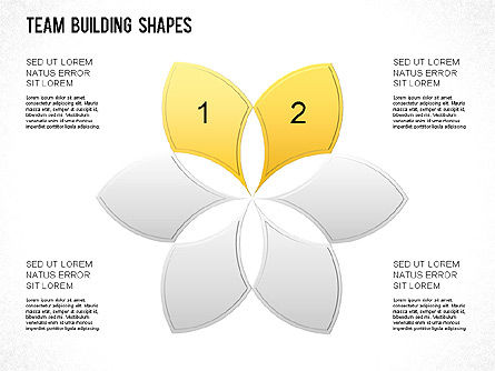 Team Building Shapes Collection, Slide 25, 01252, Shapes — PoweredTemplate.com