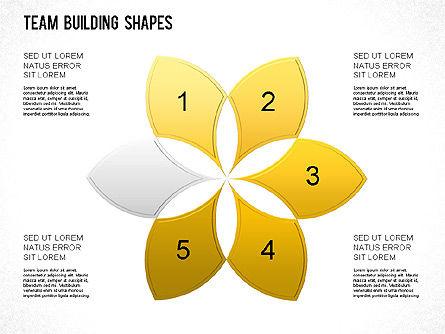 Team Building Shapes Collection, Slide 28, 01252, Shapes — PoweredTemplate.com