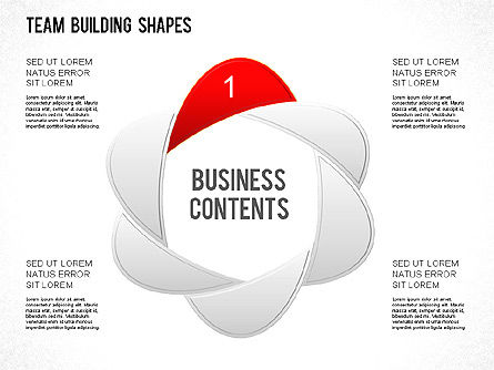 Team Building Shapes Collection, Slide 3, 01252, Shapes — PoweredTemplate.com