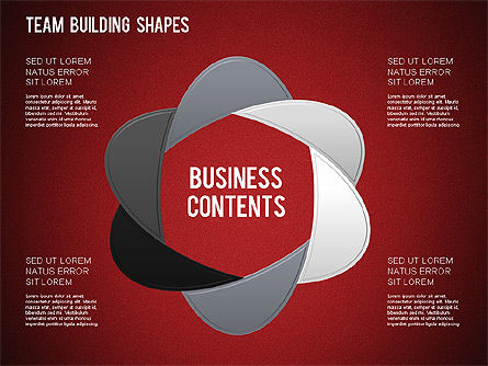 Team Building Shapes Collection, Slide 30, 01252, Shapes — PoweredTemplate.com