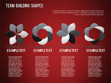 Team Building Shapes Collection, Slide 31, 01252, Shapes — PoweredTemplate.com