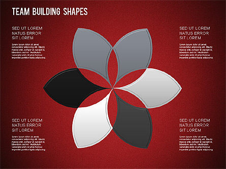 Team Building Shapes Collection, Slide 32, 01252, Shapes — PoweredTemplate.com