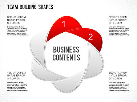 Team Building Shapes Collection, Slide 4, 01252, Shapes — PoweredTemplate.com