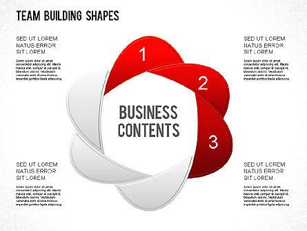 Team Building Shapes Collection, Slide 5, 01252, Shapes — PoweredTemplate.com