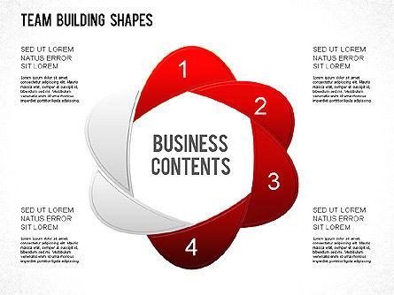 Team Building Shapes Collection, Slide 6, 01252, Shapes — PoweredTemplate.com