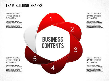 Team Building Shapes Collection, Slide 7, 01252, Shapes — PoweredTemplate.com