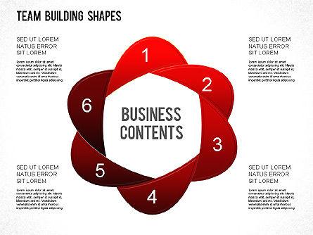 Team Building Shapes Collection, Slide 8, 01252, Shapes — PoweredTemplate.com