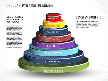 Circular Pyramid Diagram, 01253, Business Models — PoweredTemplate.com