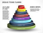 Business Models: Circular Pyramid Diagram #01253
