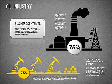 Oil Industry Diagram, Slide 14, 01254, Presentation Templates — PoweredTemplate.com