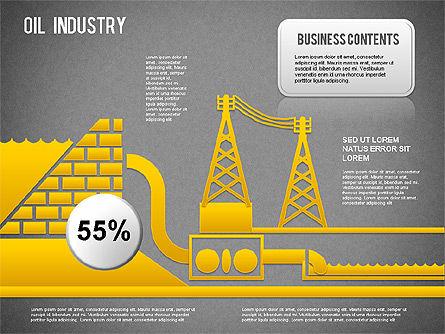 Oil Industry Diagram, Slide 15, 01254, Presentation Templates — PoweredTemplate.com