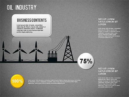 Oil Industry Diagram, Slide 16, 01254, Presentation Templates — PoweredTemplate.com