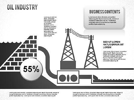 Oil Industry Diagram, Slide 7, 01254, Presentation Templates — PoweredTemplate.com