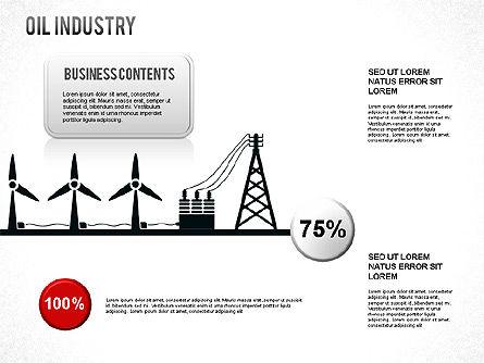 Oil Industry Diagram, Slide 8, 01254, Presentation Templates — PoweredTemplate.com
