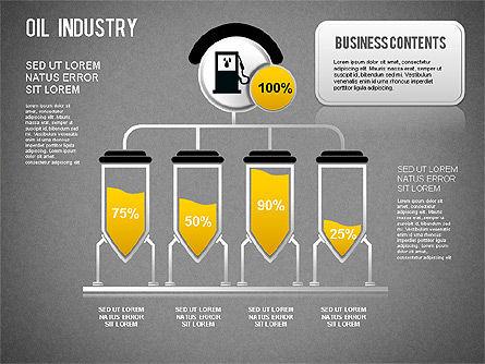 Oil Industry Diagram, Slide 9, 01254, Presentation Templates — PoweredTemplate.com