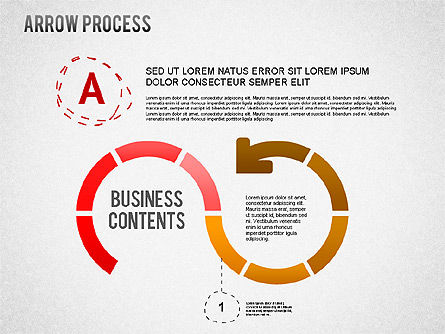 Arrow Process Diagram with Icons, Slide 2, 01255, Process Diagrams — PoweredTemplate.com