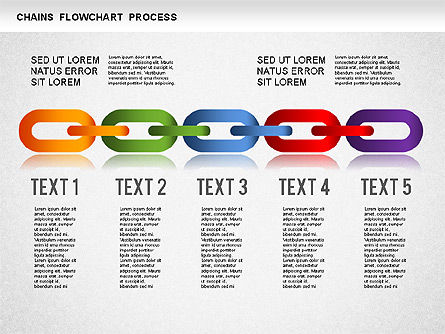 Chain Stage Diagram, Slide 2, 01256, Stage Diagrams — PoweredTemplate.com