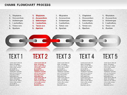 Chain Stage Diagram, Slide 4, 01256, Stage Diagrams — PoweredTemplate.com