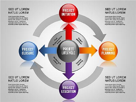 Project Management Diagram Set, Slide 3, 01259, Business Models — PoweredTemplate.com