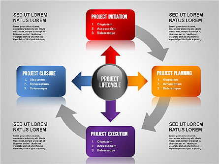 Project Management Diagram Set, Slide 4, 01259, Business Models — PoweredTemplate.com