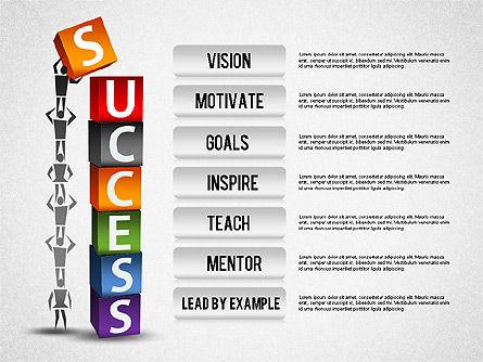 Business Success Diagram, Slide 3, 01260, Process Diagrams — PoweredTemplate.com