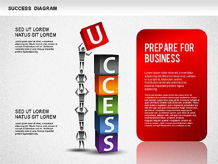 Business Success Diagram, Slide 4, 01260, Process Diagrams — PoweredTemplate.com