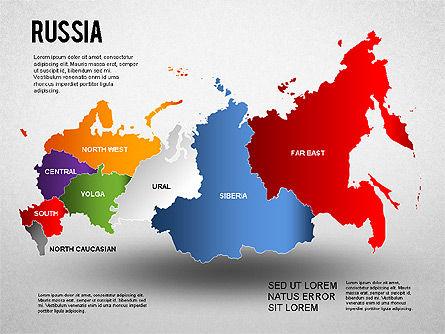 Russia Presentation Diagram, 01261, Presentation Templates — PoweredTemplate.com