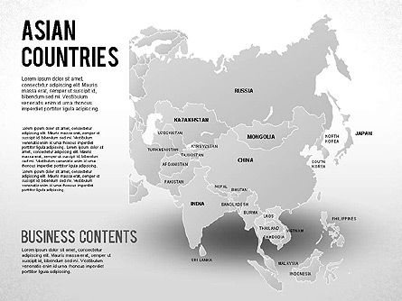 Asian Countries Presentation, Slide 2, 01263, Presentation Templates — PoweredTemplate.com