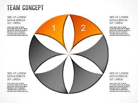 Process Shapes, Slide 10, 01265, Shapes — PoweredTemplate.com