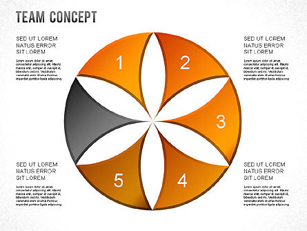 Process Shapes, Slide 13, 01265, Shapes — PoweredTemplate.com