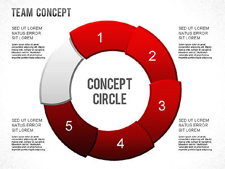 Process Shapes, Slide 6, 01265, Shapes — PoweredTemplate.com