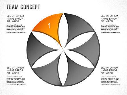 Process Shapes, Slide 9, 01265, Shapes — PoweredTemplate.com