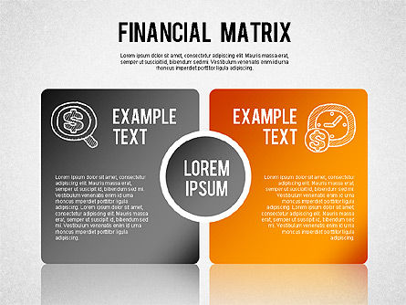 Financial Matrix Chart, 01268, Matrix Charts — PoweredTemplate.com