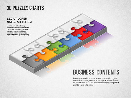 Business Models: 3D Puzzle Chart #01269