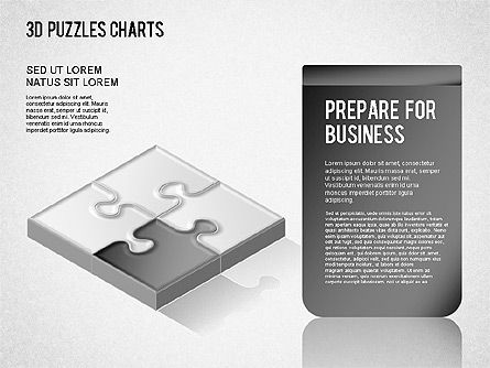 3D Puzzle Chart, Slide 2, 01269, Business Models — PoweredTemplate.com
