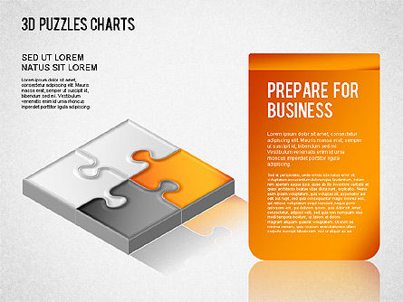 3D Puzzle Chart, Slide 3, 01269, Business Models — PoweredTemplate.com