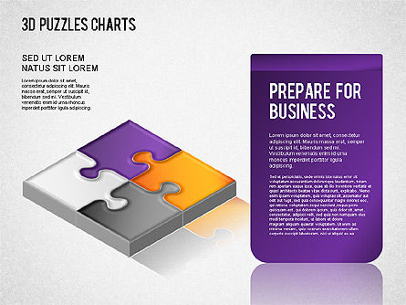 3D Puzzle Chart, Slide 4, 01269, Business Models — PoweredTemplate.com