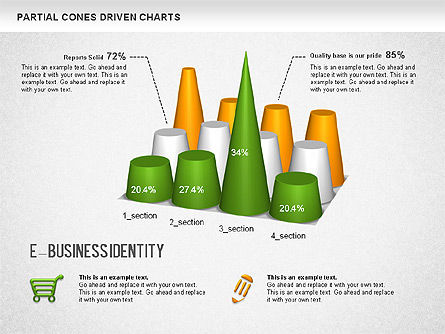 Data Driven Diagrams and Charts: Cones Bar Chart #01271