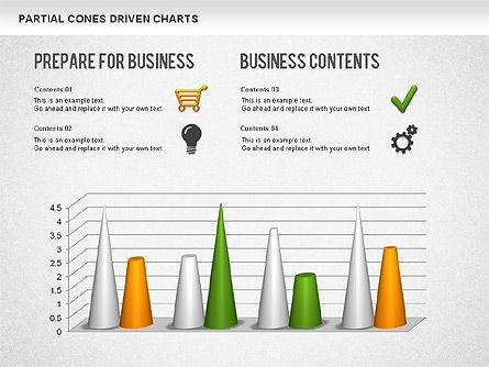 Cones Bar Chart, Slide 11, 01271, Data Driven Diagrams and Charts — PoweredTemplate.com