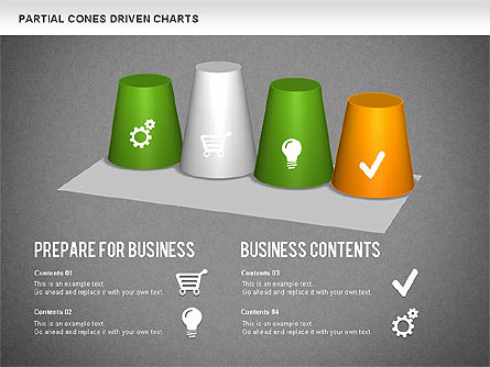 Cones Bar Chart, Slide 12, 01271, Data Driven Diagrams and Charts — PoweredTemplate.com
