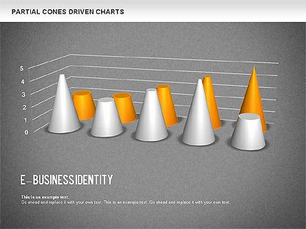 Cones Bar Chart, Slide 13, 01271, Data Driven Diagrams and Charts — PoweredTemplate.com