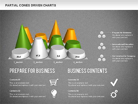 Cones Bar Chart, Slide 14, 01271, Data Driven Diagrams and Charts — PoweredTemplate.com