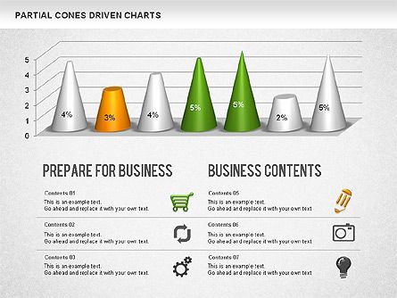 Cones Bar Chart, Slide 2, 01271, Data Driven Diagrams and Charts — PoweredTemplate.com