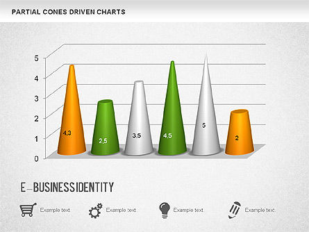 Cones Bar Chart, Slide 3, 01271, Data Driven Diagrams and Charts — PoweredTemplate.com