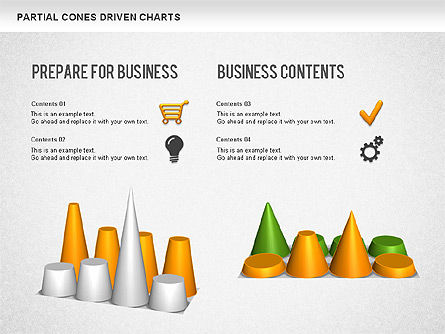 Cones Bar Chart, Slide 4, 01271, Data Driven Diagrams and Charts — PoweredTemplate.com