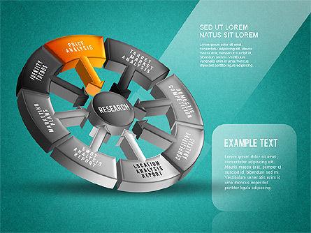 Research Wheel Diagram, Slide 15, 01273, Process Diagrams — PoweredTemplate.com