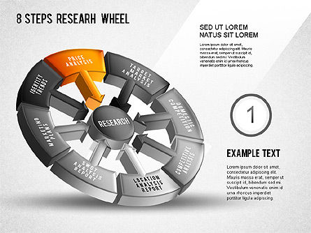 Research Wheel Diagram, Slide 2, 01273, Process Diagrams — PoweredTemplate.com