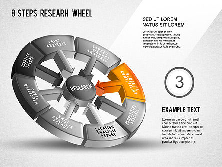 Research Wheel Diagram, Slide 4, 01273, Process Diagrams — PoweredTemplate.com