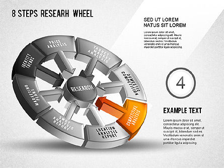 Research Wheel Diagram, Slide 5, 01273, Process Diagrams — PoweredTemplate.com