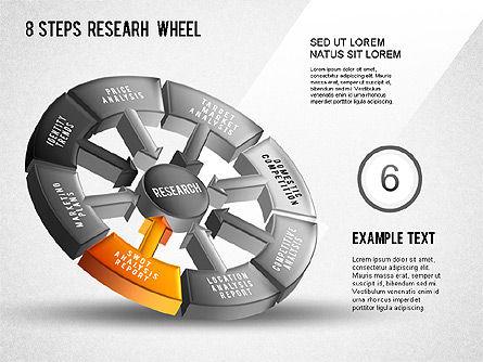 Research Wheel Diagram, Slide 7, 01273, Process Diagrams — PoweredTemplate.com